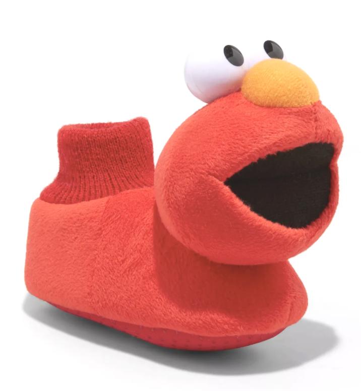 Bambini Piccolo Ragazze Sesame Street Elmo Anti Infilare Calzino Pantofole Nuovo