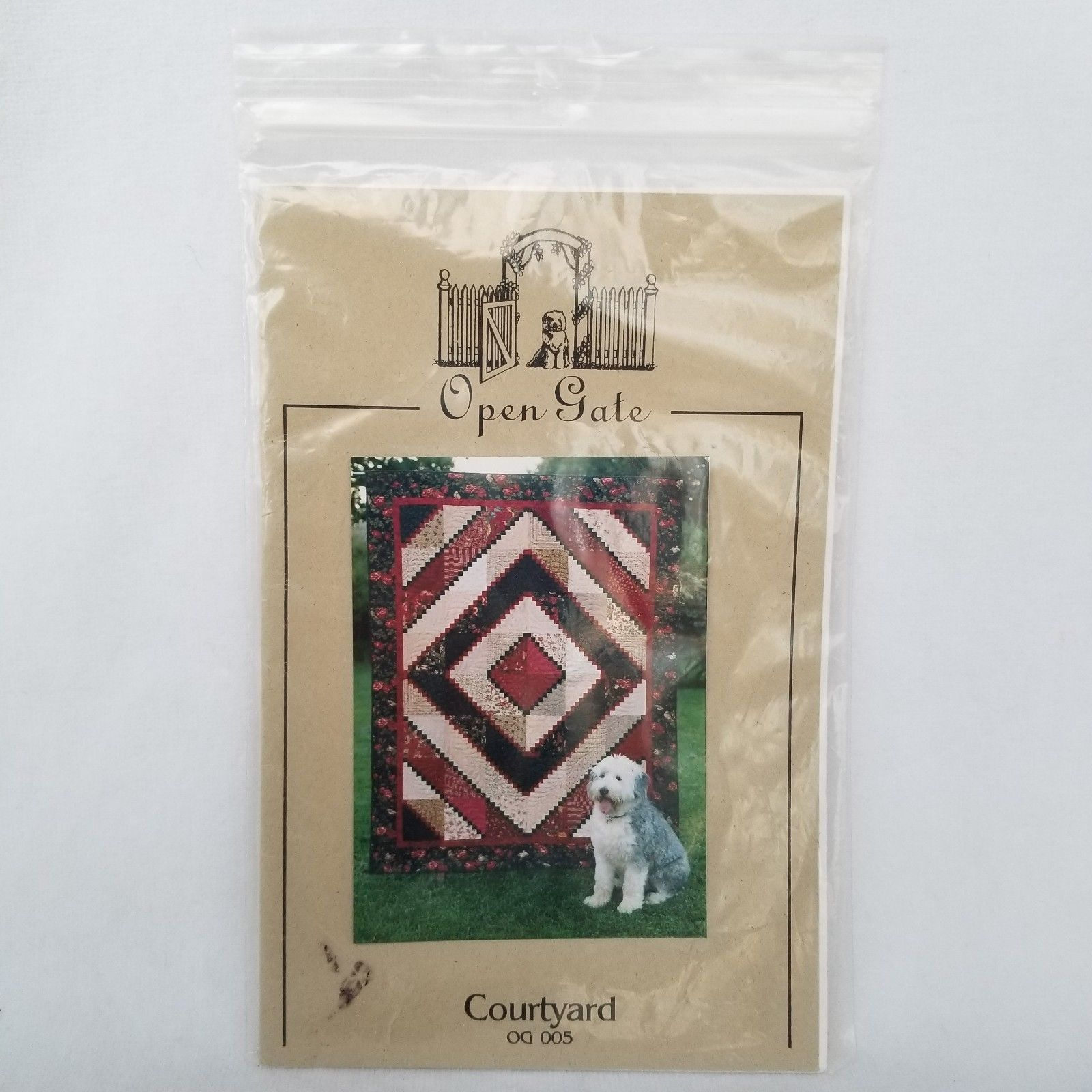 Primary image for Courtyard Quilt Pattern 69 Inch x 87 Inch OG 005 Retired 2004 Open Gates Quilts