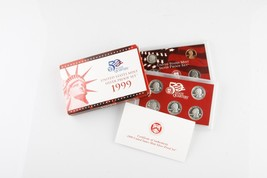 1999 UNITED STATES MINT SILVER PROOF SET WITH BOX AND CoA - $143.54
