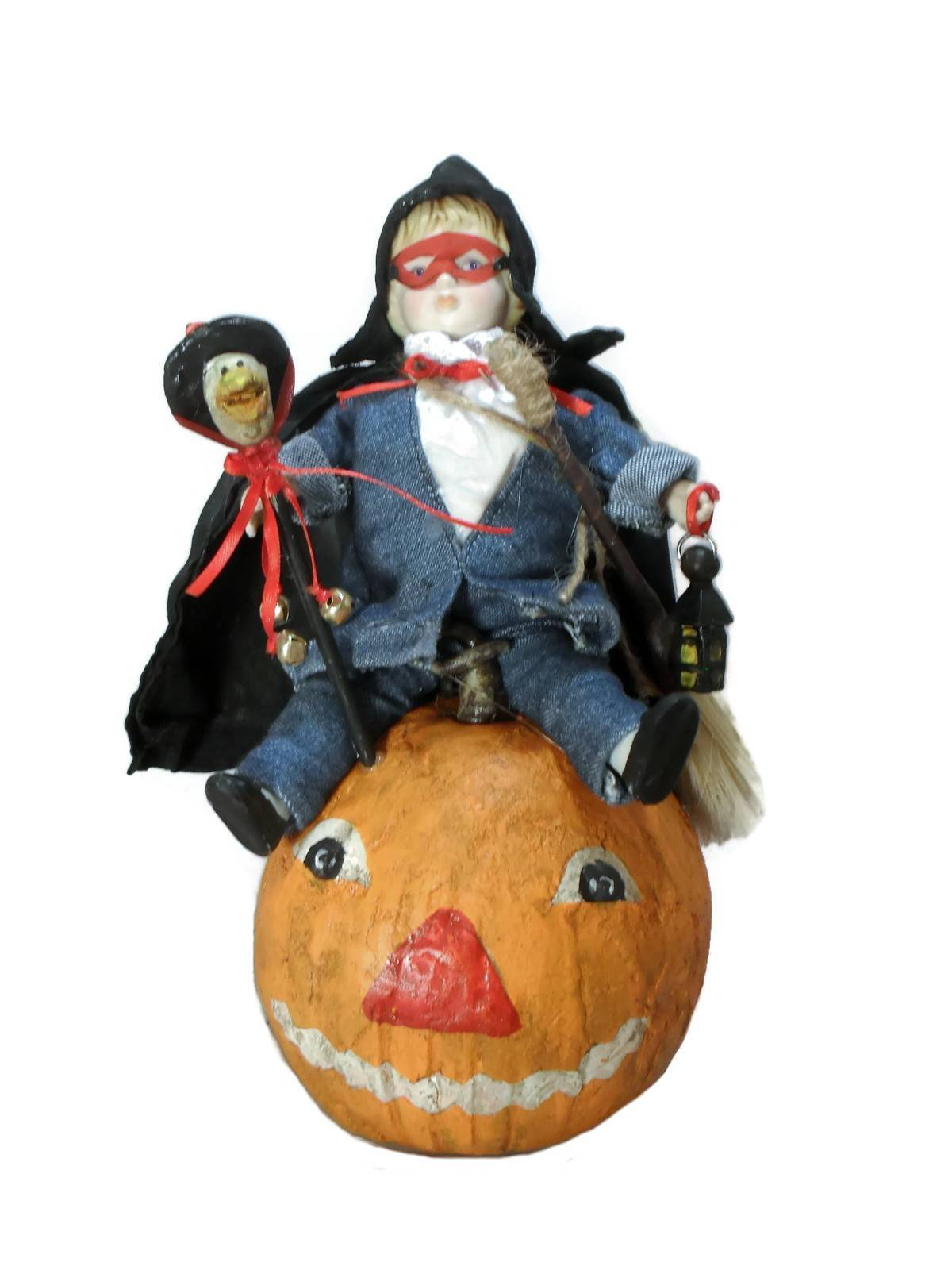 Vintage Reproduction Halloween Trick Or Treater Figurine Collectible