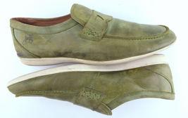 FLUEVOG Size Penny Shoes Men's Green JOHN Loafers 11 Leather Z6gddwq5