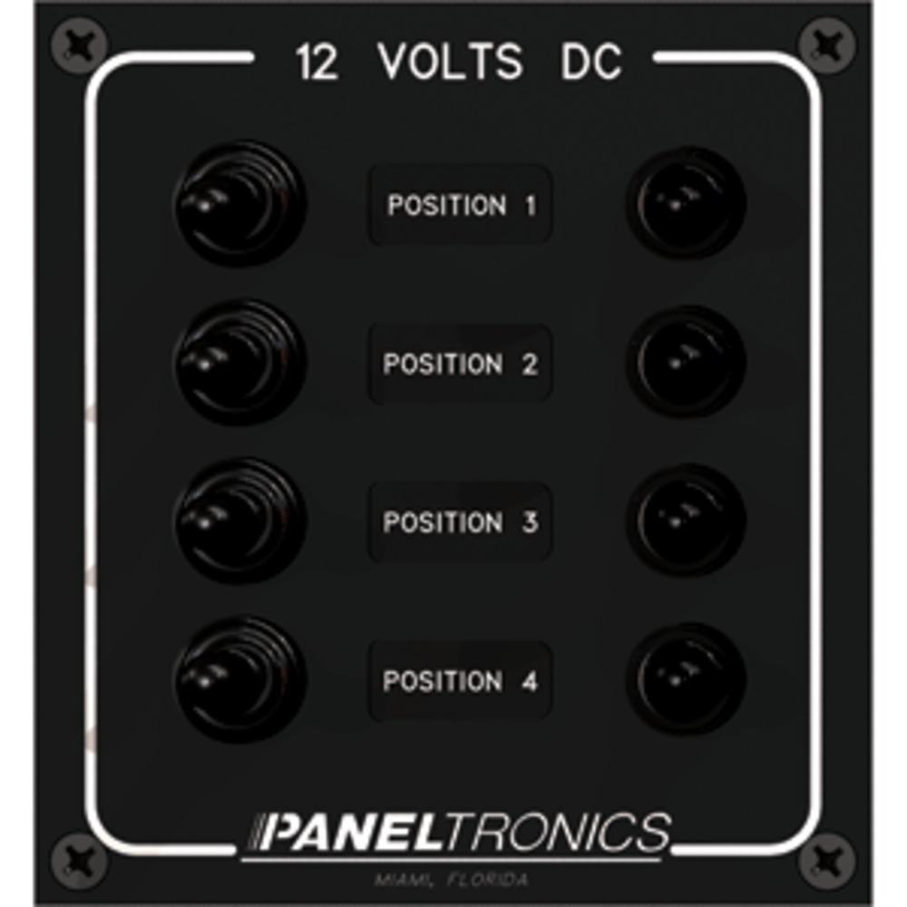 Paneltronics Waterproof Panel - DC 4-Position Toggle Switch & Circuit Breaker