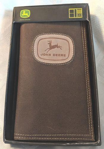 John Deere LP65397 Gem Dandy Accessories Brown Leather Check Book Holder