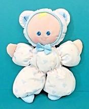 Fisher Price Slumber Babies White Blue Teddy Bear Plush Doll Vintage 199... - $64.95