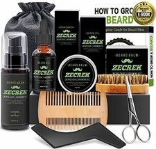 Best 9 in 1 Beard Grooming & Growth Kit w/Beard Oil,Beard Shaping Tool,Beard Was