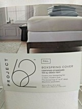 Solid Box Spring Cover - Project 62™ WHITE FULL SIZE. -- SEALED NEW- image 2