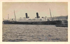 Steamer SS Helouan Steamer Lloyd Trieste 1912 to 1937 Italy Real Photo P... - $12.38