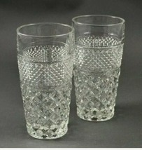 Set of 2 Vintage Anchor Hocking Wexford Clear 12 oz Tumblers Ice Tea Glasses - $24.74