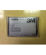 Scotch 3M 542 Standard dictating cassette 90 min total 45 min each side ... - $2.97
