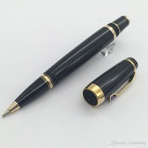 Free Shipping - black resin wholesale Roller ball pen novelty Design gol... - $36.99