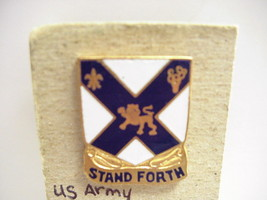 """WWII United States Army INF Infantry unit crest insignia DI Pin """"Stand Forth"""" - $12.46"""