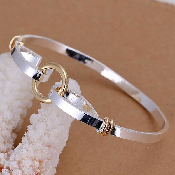 Primary image for Hook Loop Bangle 925 Sterling Silver NEW