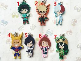 Anime My Hero Academia Boku no Hero Akademia Todoroki Keychain Rubber Strap  - $4.84+
