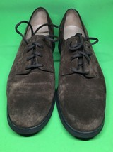 Salvatore Ferragamo Brown Suede Lace Up Oxford Shoes Size 7 B Made Italy - $42.08
