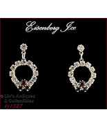 Eisenberg Ice Rhinestone Wreath Dangle Earrings (#J1327) - $30.00