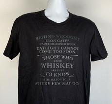 Sexton Irish Whiskey T Shirt Mens Medium Behind Wrought Iron Gates - $21.73