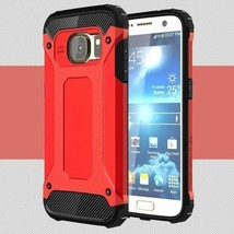 PC + TPU 2-in-1 Cover for Samsung Galaxy S7 G930 - Red - $3.29