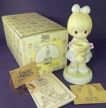 Precious Moments YOU ARE MY NUMBER ONE 520829 1988 in Box Girl with Trophy - $5.00