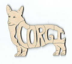Corgi Pembroke Dog laser cut wood Magnet - $7.51