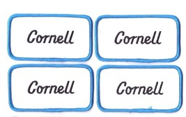 Lot of 4 New Cornell name patches Embroidered Sew on tag 4 1/8 x 2 1/4 inch - $8.90