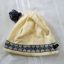 Turtle Fur Wool Hat Beanie Ski Tassel Ivory Made in Italy Rave Festival ... - $18.52