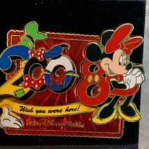 Walt Disney World Trading Pin Minnie Mouse Wish You Were Here 2008 Limit... - $37.25