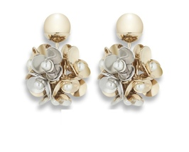 AUTHENTIC NEW CHRISTIAN DIOR MISE EN TRIBAL GOLD CRYSTAL FLOWER EARRINGS