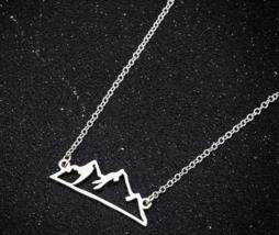 Origami Snow Mountain Necklaces & Pendants Mountain Range Pendant Necklace image 5