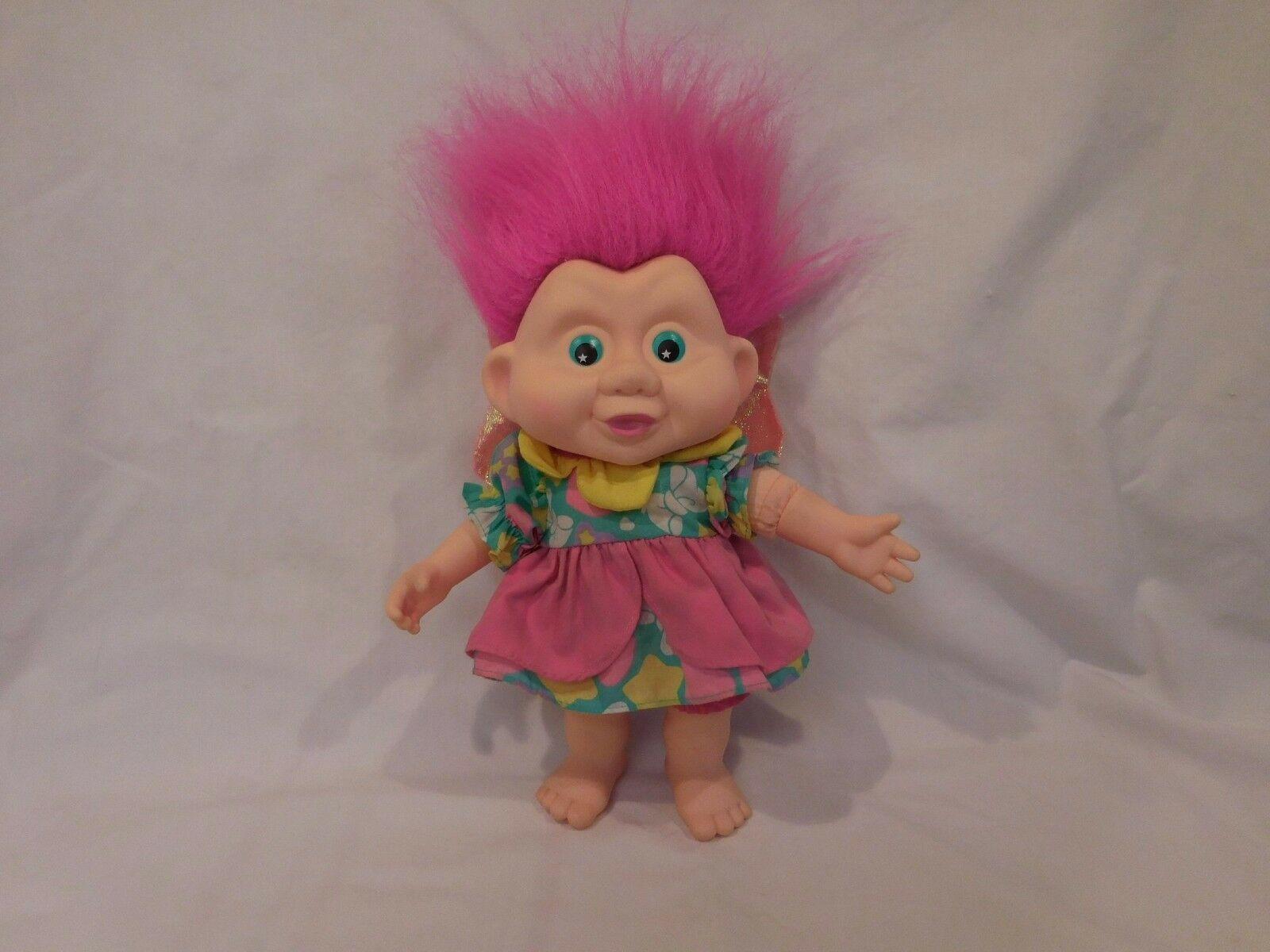Trolls Magic Doll 1991 Pink Hair Applause PlushWith Wings  Vintage Star Eyes