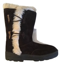White Mountain Oliva Women's Brown Suede W/Faux Fur Mid-Calf Boots size ... - $61.37