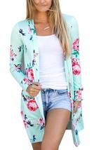 ECOWISH Womens Boho Irregular Long Sleeve Wrap Kimono Cardigans Casual C... - $28.53