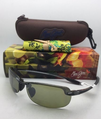 Maui Jim Sonnenbrille Makaha Leser + 2.5 Ht 805-1125 Rauchgrau mit Grün Gläser