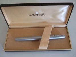 SHEAFFER WHITE DOT FOUNTAIN PEN - SQUEEZE CONVERTER FILLER - BRUSHED CHROME - $27.00