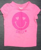 CIRCO Girl's Fuchsia Pink Smiley Face Short Sleeve Top 2T Excellent Cond... - $2.99