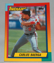 1990 #6t topps Carlos Baerga Cleveland Indians Baseball rc card rookie mint - $9.21