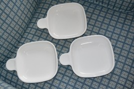 3 Corning Ware P-185-B Grab It Square Sandwich Snack Plates Dishes with ... - $21.29