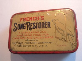 VINTAGE Antique FRENCH'S SONG RESTORER TIN Bird Food / Seed - $20.00
