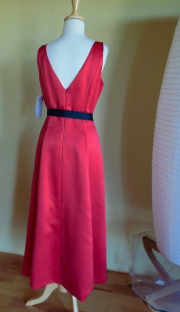 New ADRIANNA PAPELL Red SPECIAL OCCASION DRESS SIZE 8 NWT fit flare