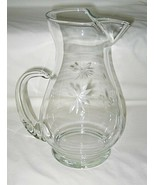 American Stemware Cut Aster Pattern 2-Qt Pitcher w/Ice Lip - $34.60