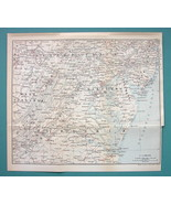 "1899 MAP by Baedeker 9 x 10"" - USA Maryland Virginia Delaware + Railraods - $12.15"