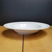 Mikasa Italian Countryside Rim Soup Bowl White Ribbed Scroll DD900 - $4.94