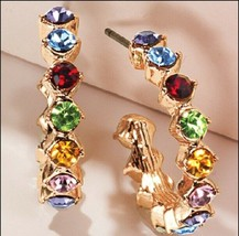 Avon Rainbow Riches Hoop Earrings - $14.85