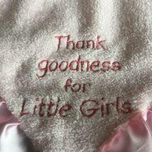 Kids Preferred Girl Lovey Thank Goodness for Little Girls Blonde Blue Eyes  image 3
