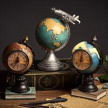 Retro Globe Clock Home Decoration Living Room Office Cafe Nostalgic Craf... - $48.00