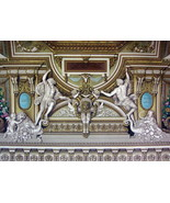 BAROQUE Ceiling in Apollo Gallery Louvre - A. RACINET Color Litho Print - $25.20