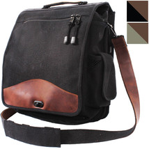 Military M-51 Messenger Shoulder Bag Canvas & Leather Engineers Field Cr... - $55.36 CAD