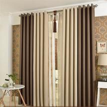 Linen Curtains Simple Shading Cotton Blackout Customized Panels Window T... - $29.60+