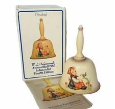 Hummel Goebel Bell vtg 1979 nib box West Germany W figurine 1981 girl bi... - $38.65