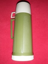 Vintage King Seeley Insulated Green Thermos Vacuum Bottle Cup -Filler - Stopper - $37.39