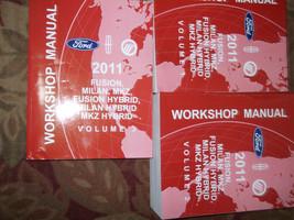 2011 Ford Fusion Lincoln MKZ Milan Hybrid Service Shop Repair Manual Set... - $138.55